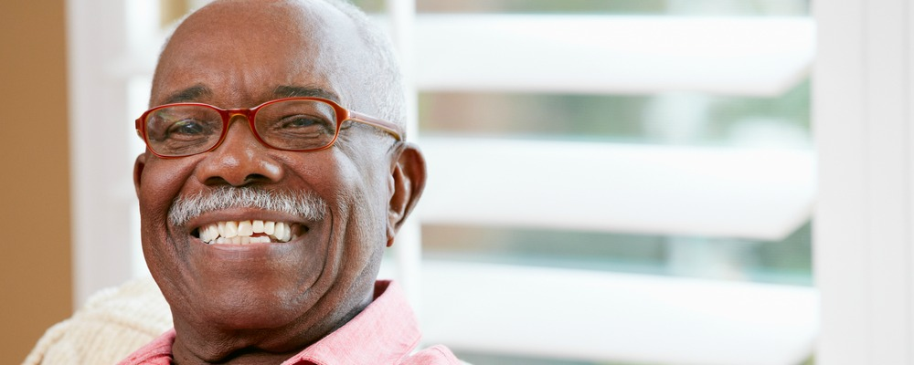 man smiling after receiving bone grafting in richmond indiana